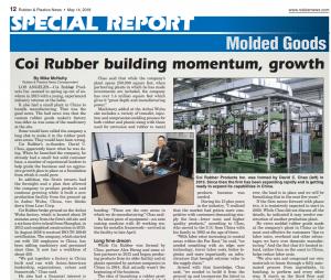 rubberandplasticnews - featured rubber molding manufacturer